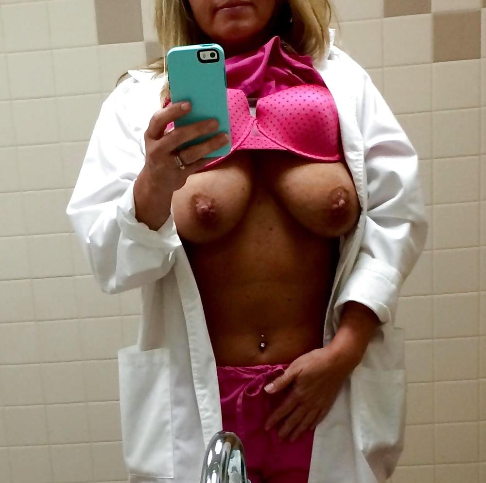Naked Nurse Selfie