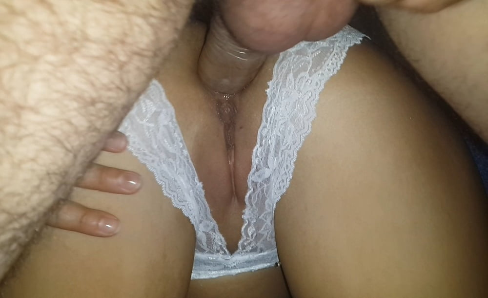 An undressing wife