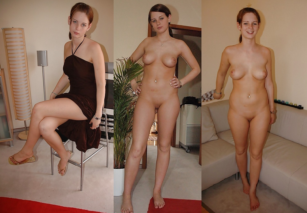 Side By Side Clothed Unclothed Women
