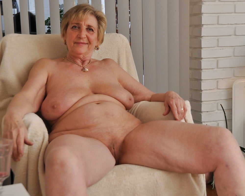 See and save as sexy totally naked granny in her heels porn pict