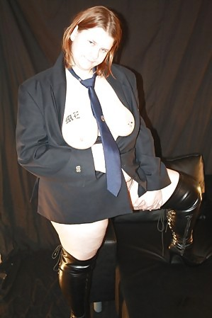 Chubby Girl in Uniform