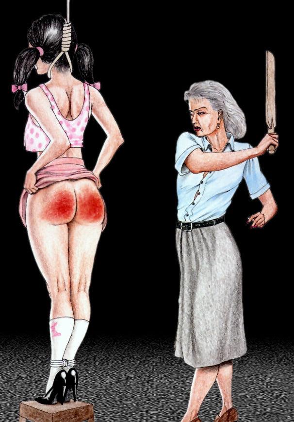 Torture drawing bdsm spanking art