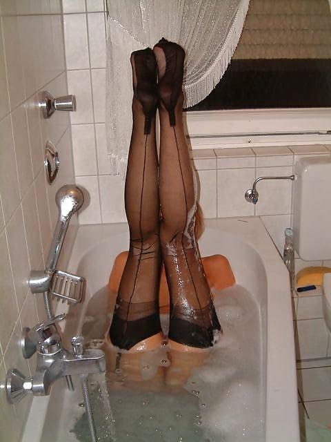 Serban blonde whore in nylon serbainsrpski by krmanjonac - 3 part 9