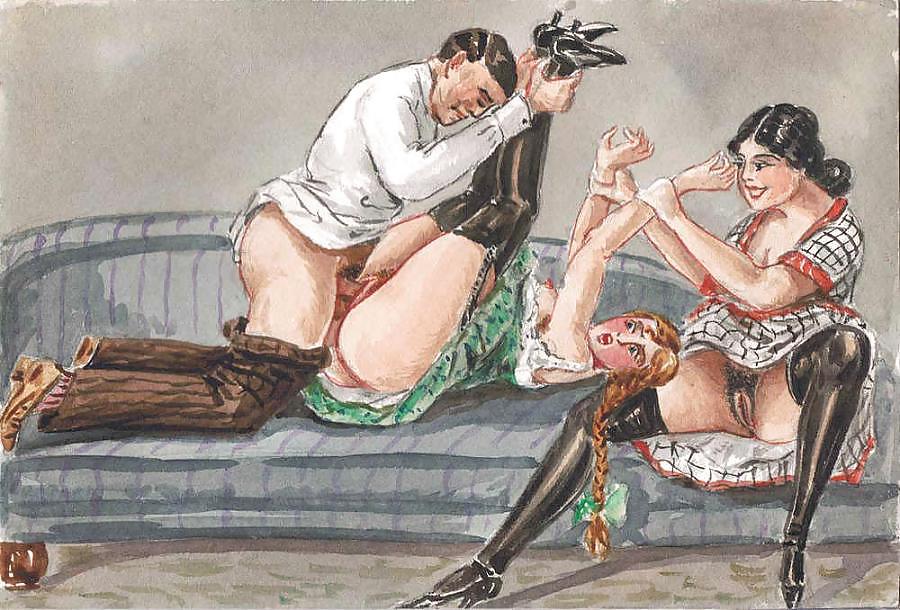 Old German Erotic Book W Illustrations By Bayros