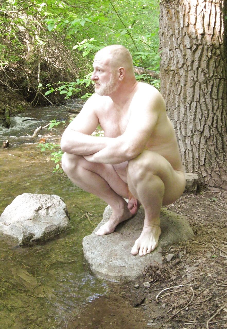 Bikini naked male squats