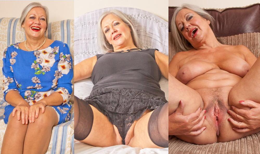 Granny Gets Undressed And Masturbates