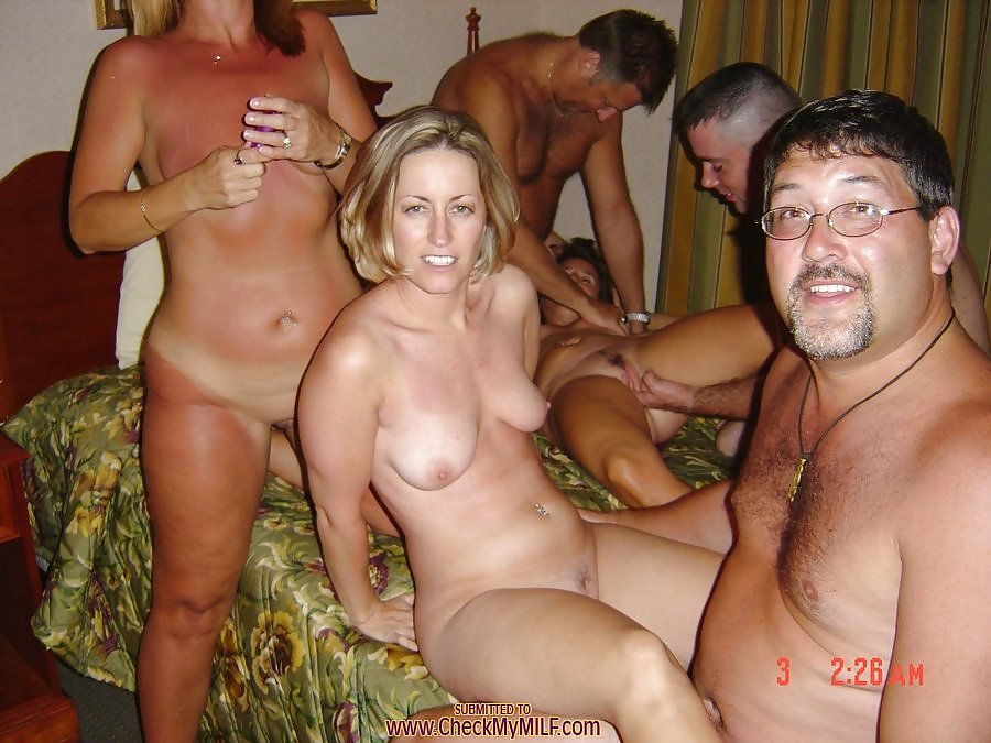 Nude housewives party