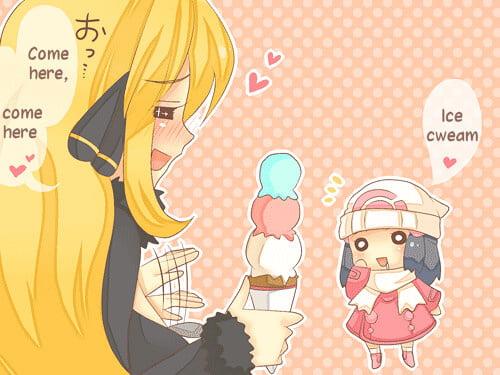 Girls with ice cream - 21 Pics
