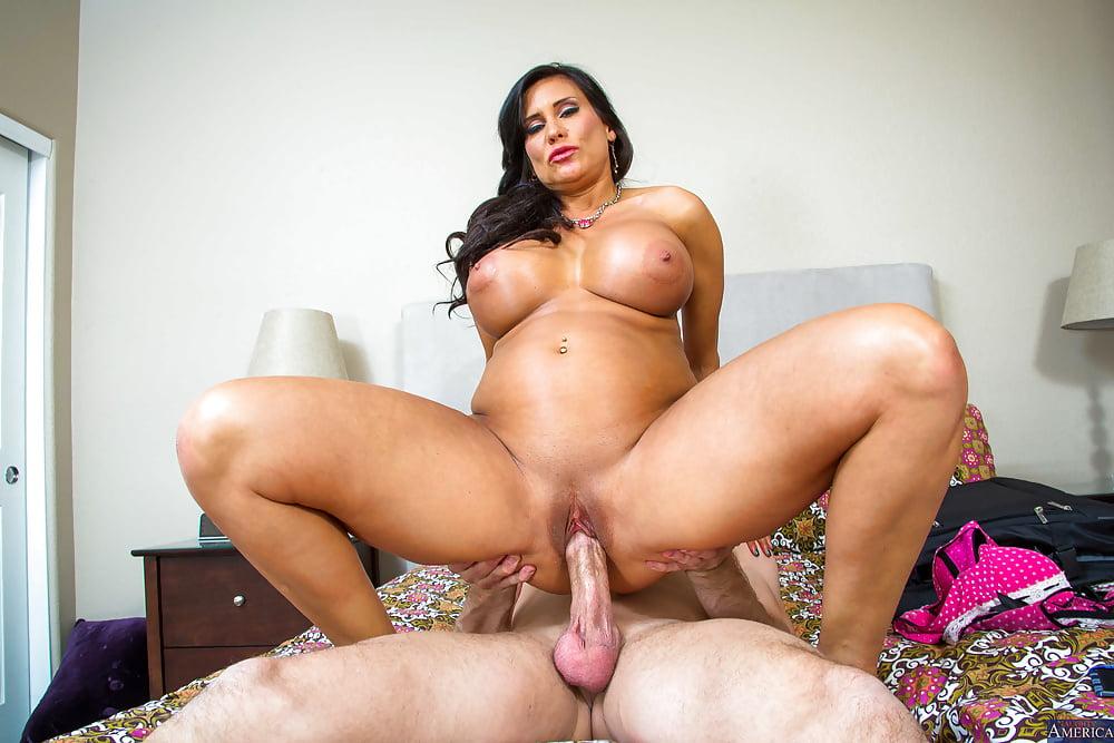 Latina with big tits fucking