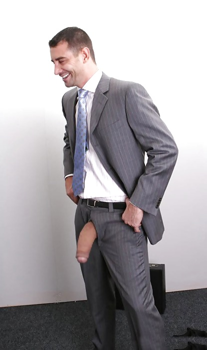 Women in business suits half naked