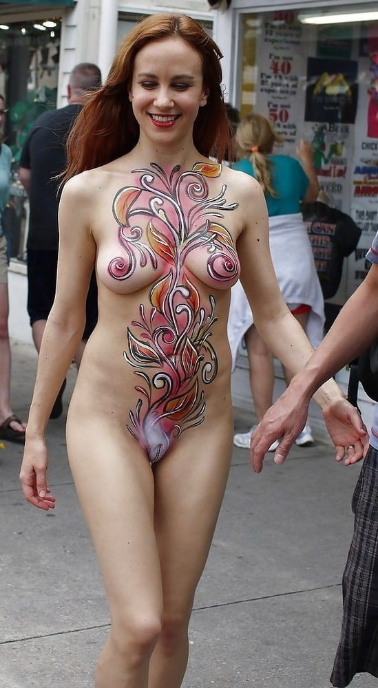 Nude bodypaint girls