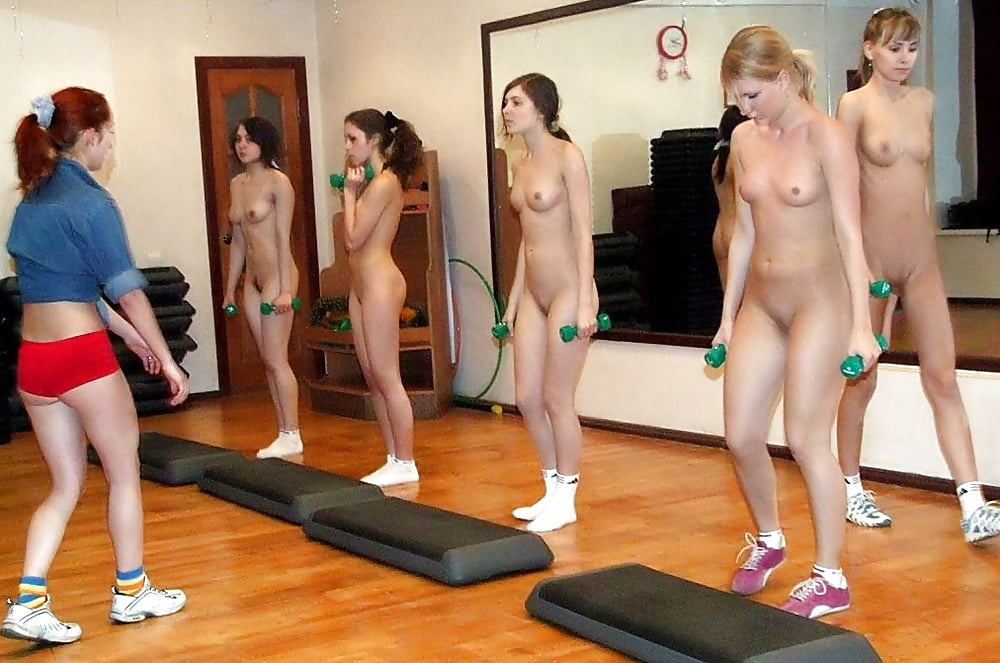Naked girls exercise