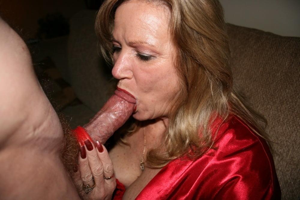 Milf blowing cock girl