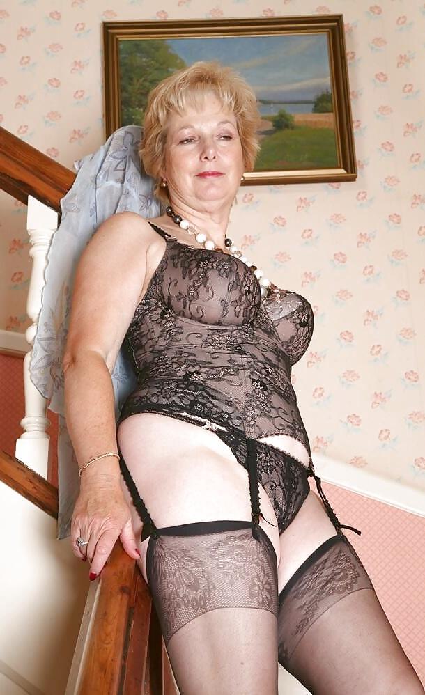 Grannies in suspenders — pic 3
