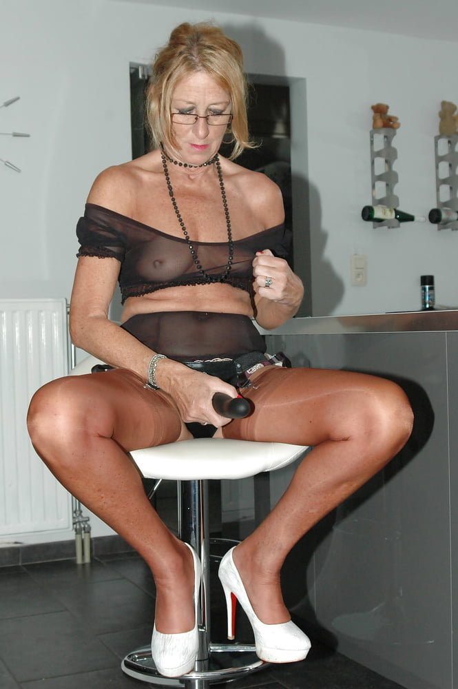 Mature nylon lingerie