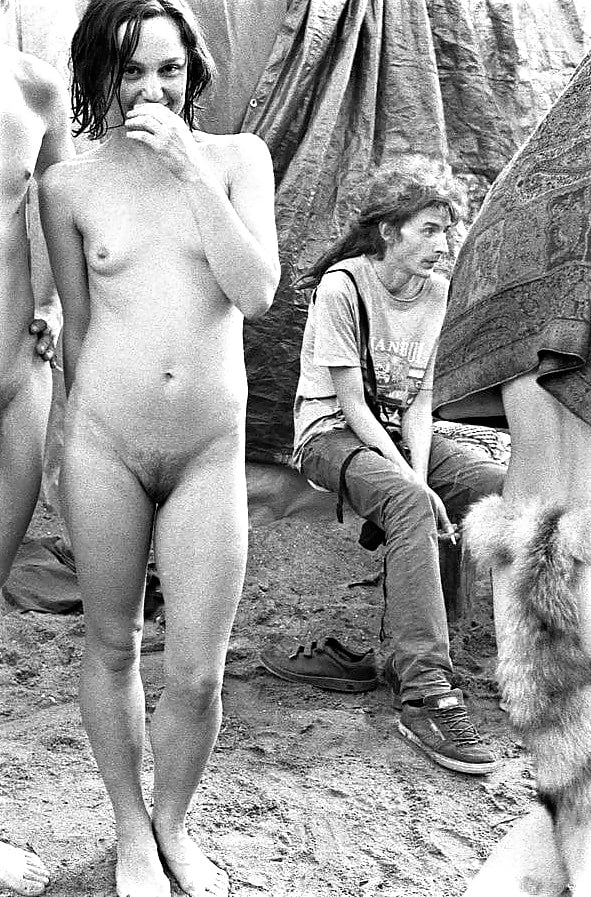 Old naked hippy