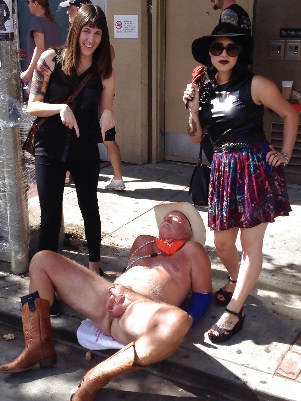 Humiliation cock mistress public