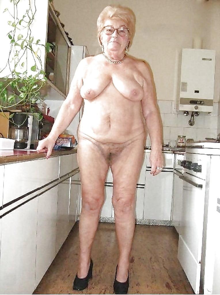 Naked Grandma Around The House