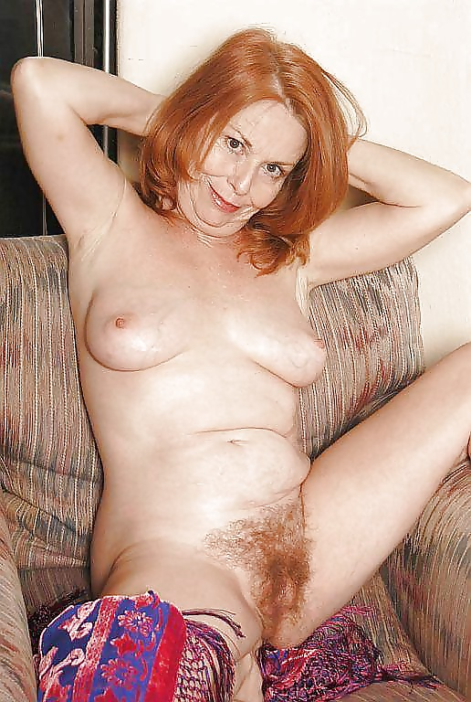 Mature hairy redhead pussy private pics