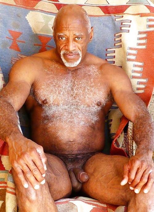 Old black men naked