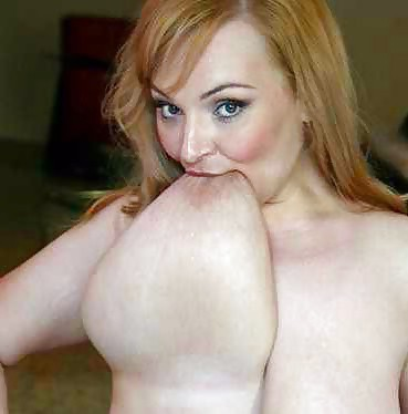 Women sucking there own nipples