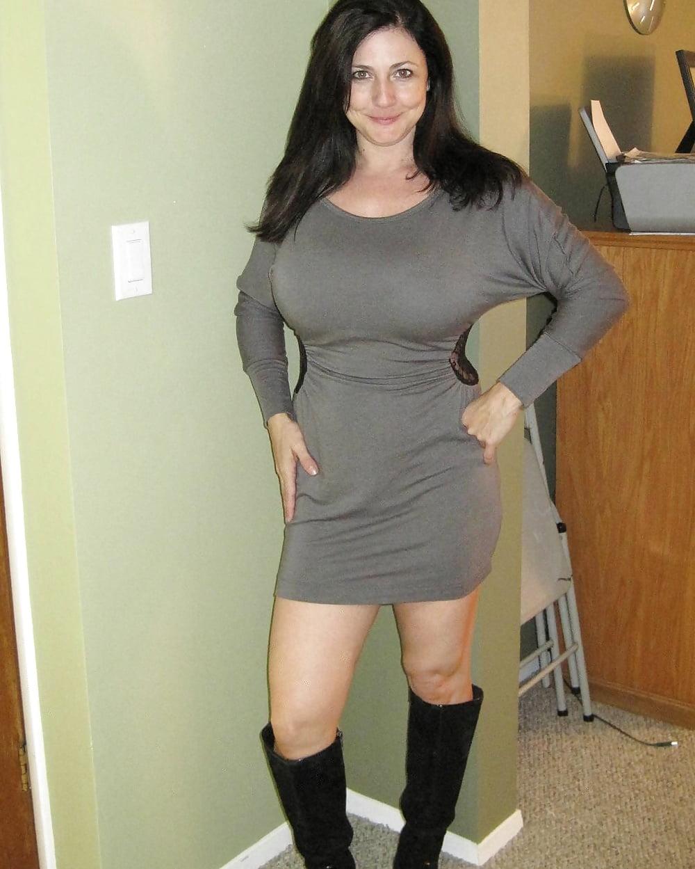 Фото мамочек в сексуальных платьях — 2