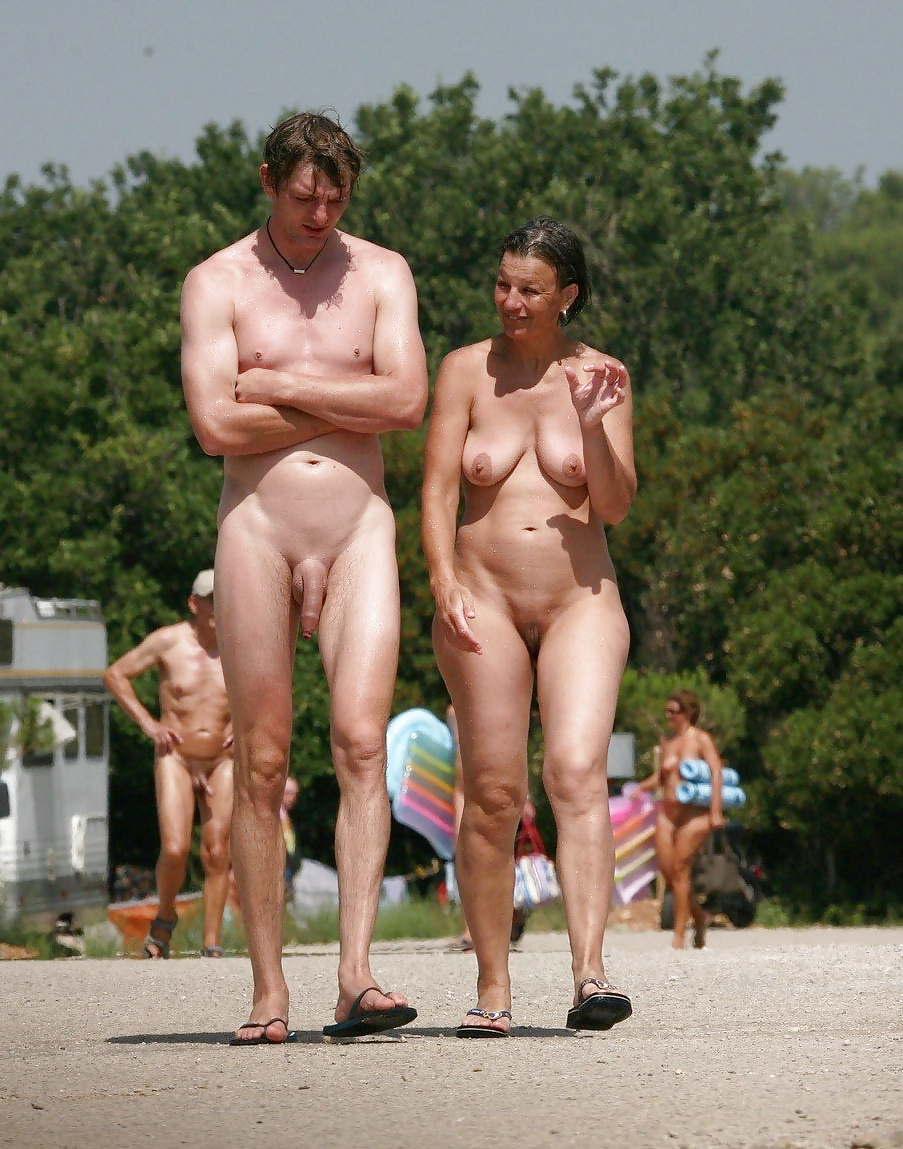 Nude couple camping — 12
