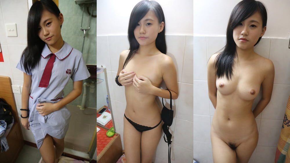 asian girl exposed dressed undressed