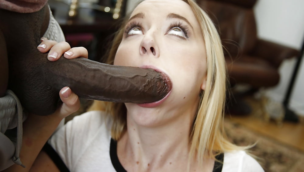 Blonde milf monster cock