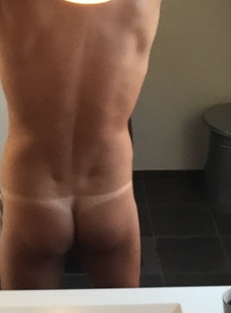 Straight men in thongs