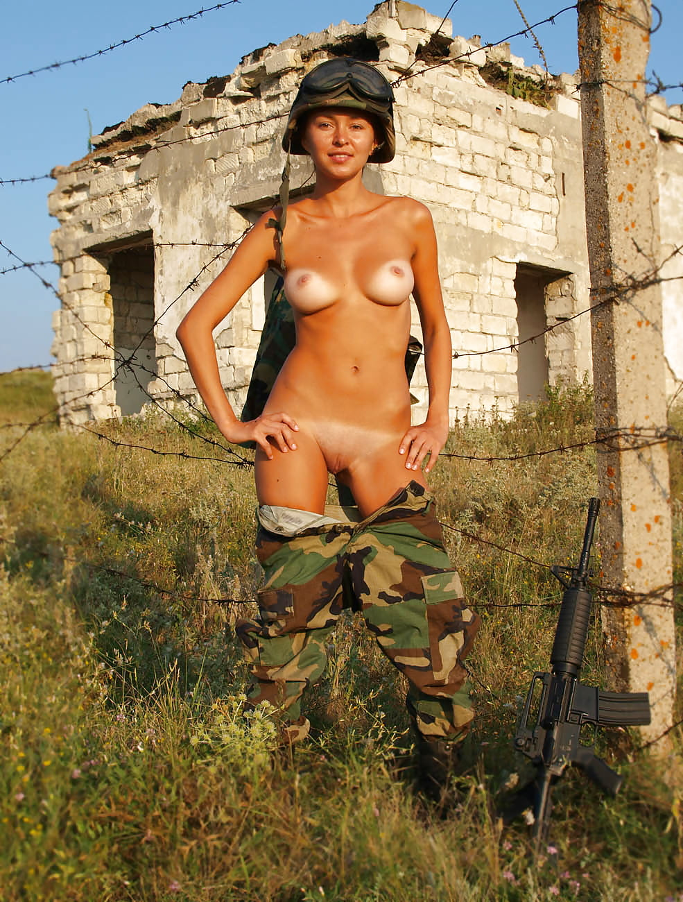 Girl soldiers naked and