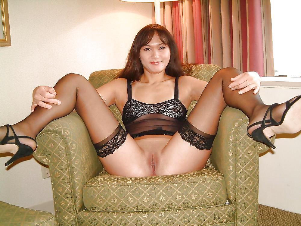 Russian milf anal stockings