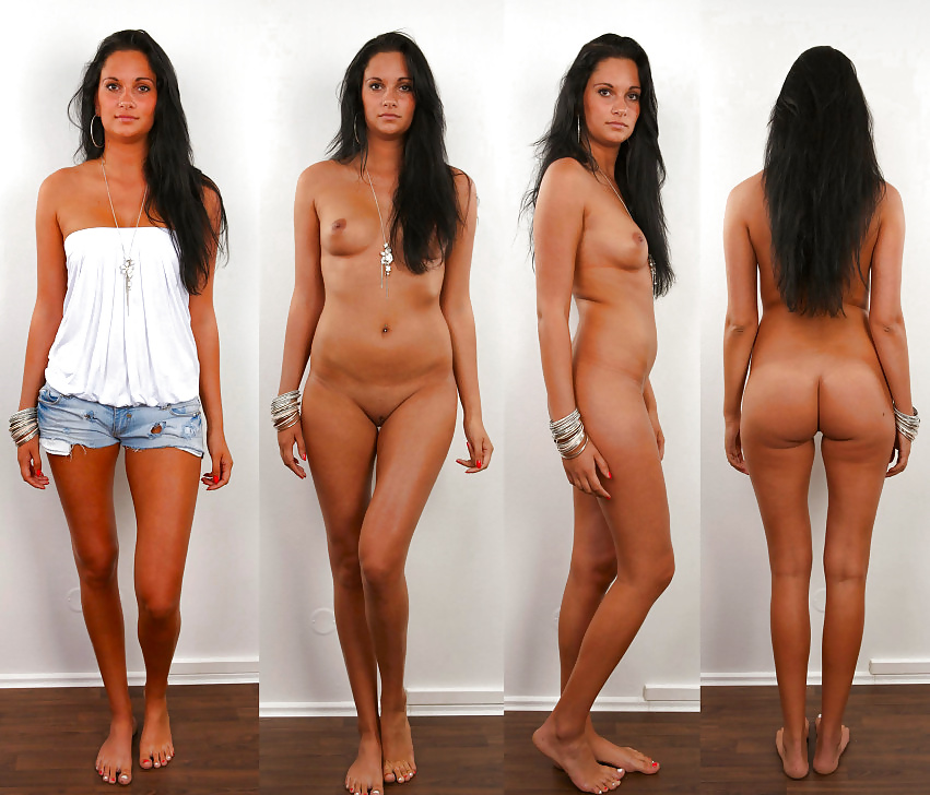 Girls clothed and unclothed
