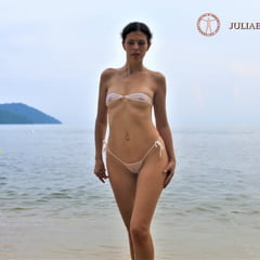 Part 5. Julia V Earth In White Bikini At The Beach.