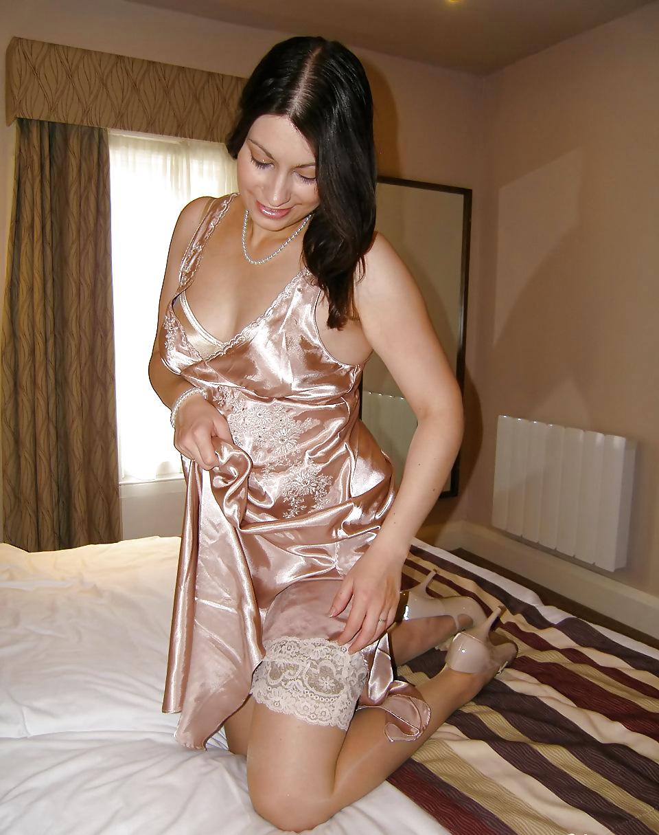 Satin nightie satin lingerie sexy lingerie night wear pink satin dresses beautiful lingerie hot pink nighties