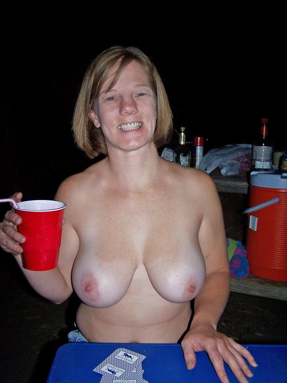 Wives flashing tits