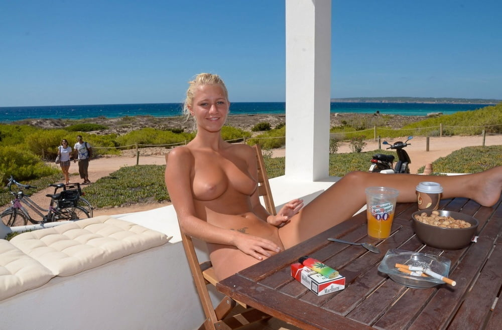 Girls naked on holiday