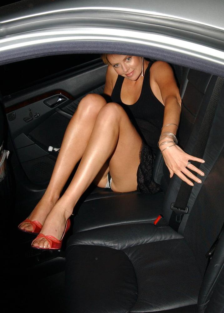 Jamie clayton in sexy crossed legs