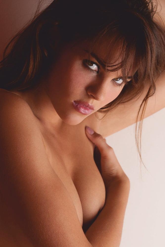 Classy Brunette in Stockings - 19 Pics
