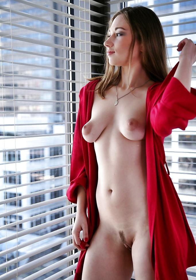 Sexy asian girl wearing black robe stock photo