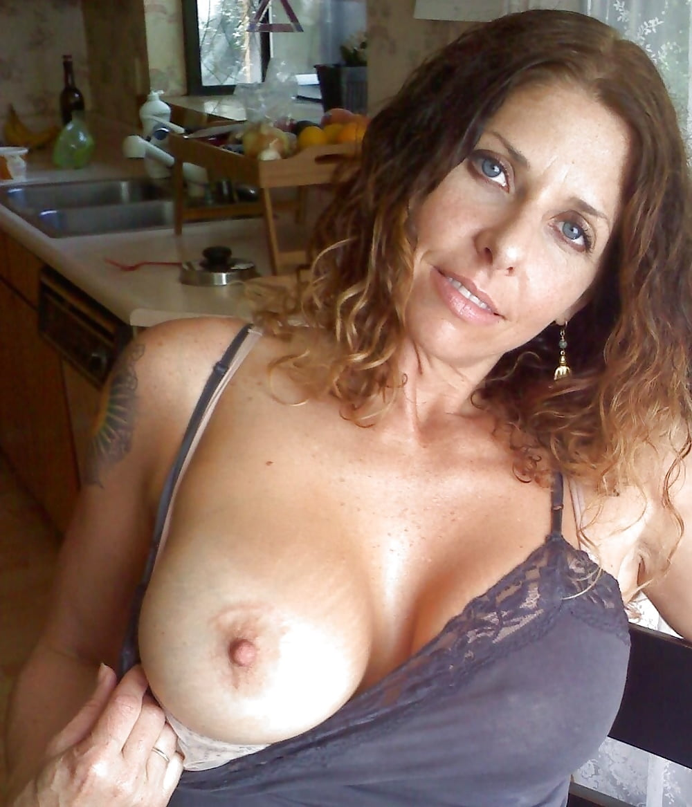 Sexy mature cleavage