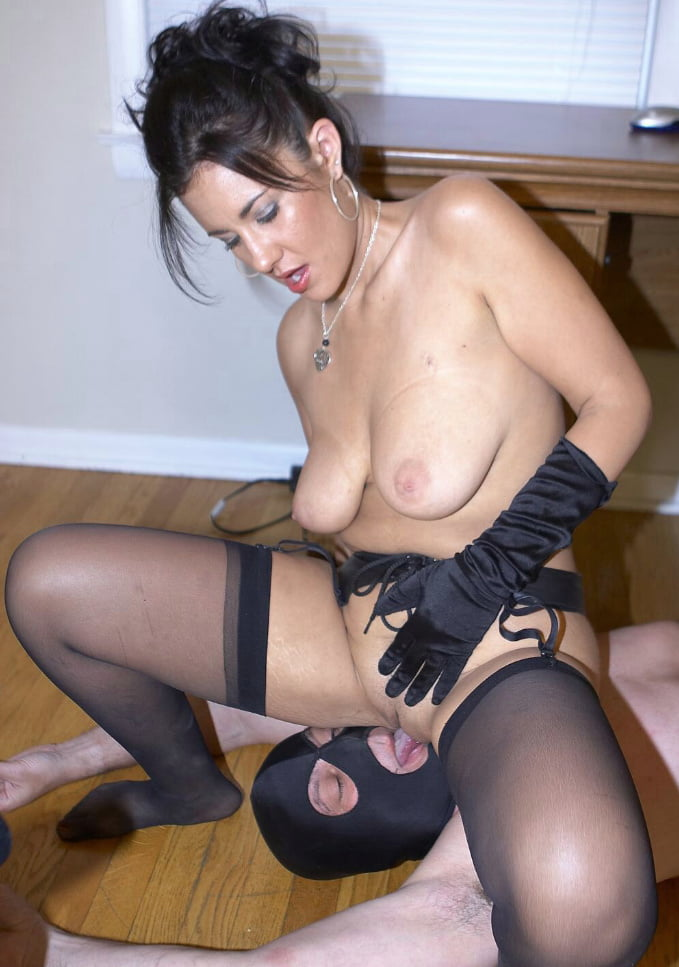 Facesitting thigh high stockings crotchless pantyhose, crazy japanese orgy