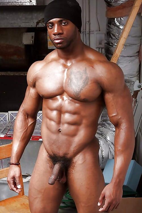 Big huge black sexy musclemen — photo 6