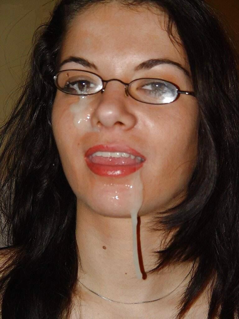 Sex Cumshots on Glasses Mixed Facials image