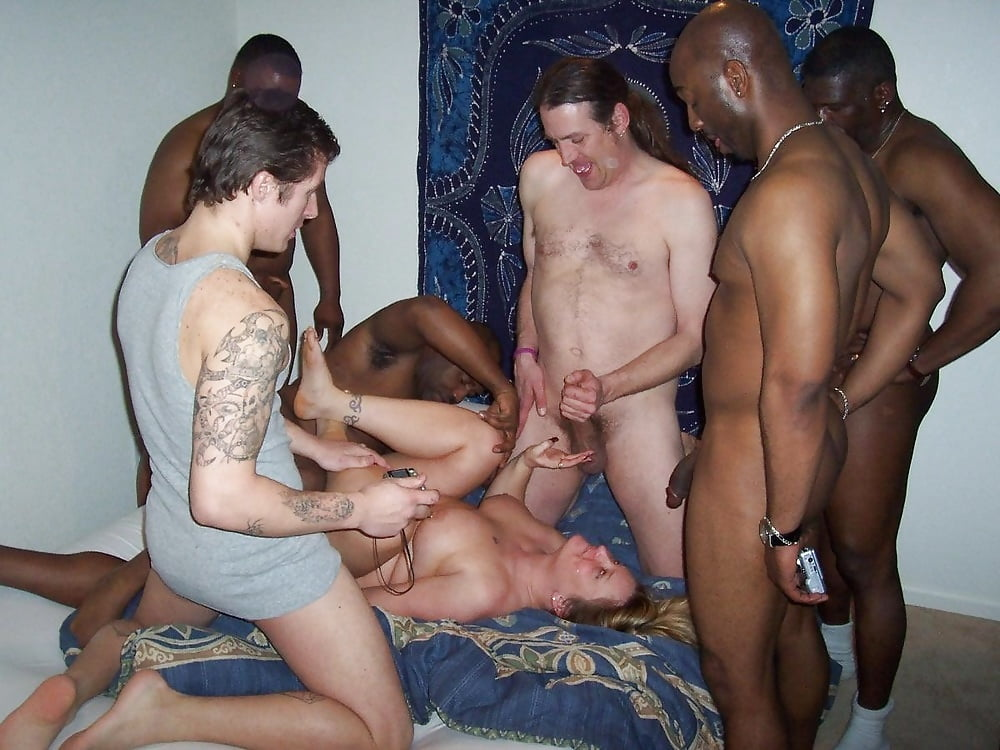 Cheating wife caught in gang bang — photo 1