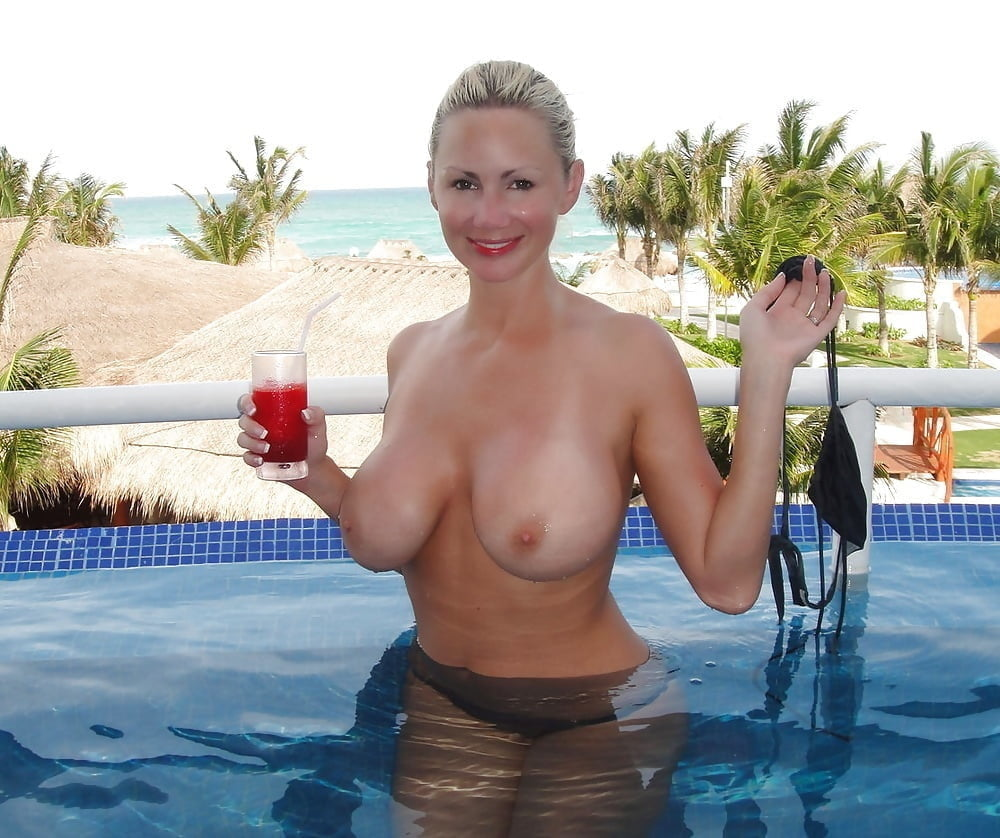 Topless wives by the pool, mastrubating twinns nude