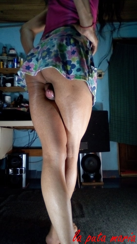 The fucking Maria. with flowered miniskirt.- 28 Pics