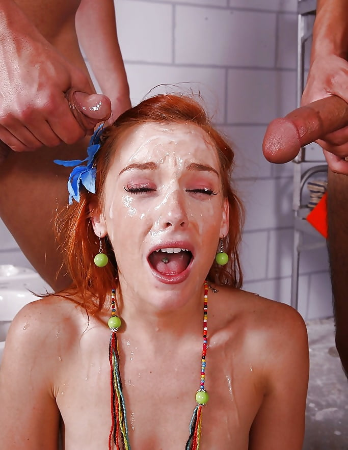 Girl red face porn pic