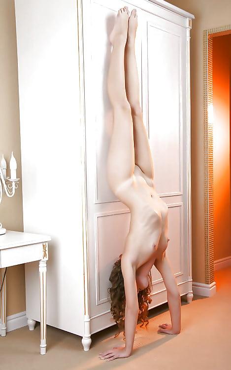 Nude girl doing exercise-8117