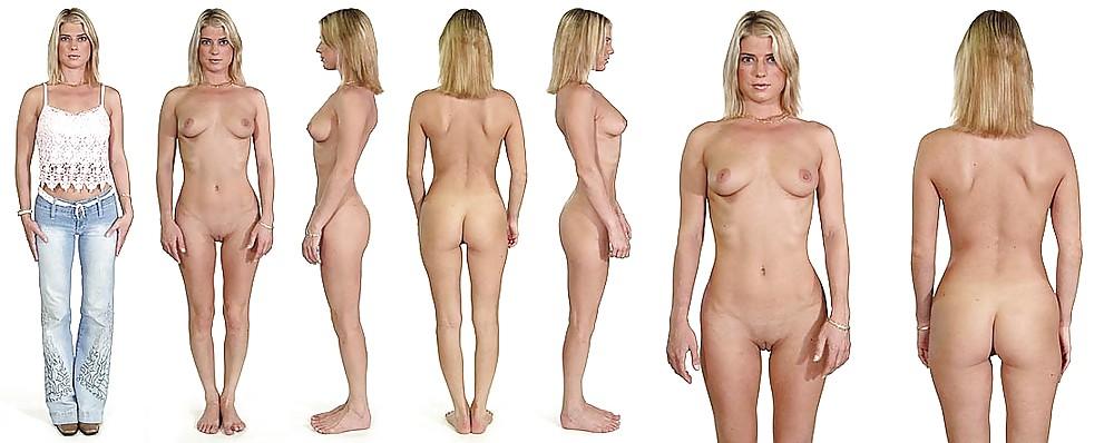 Nude Women Posture Line Up